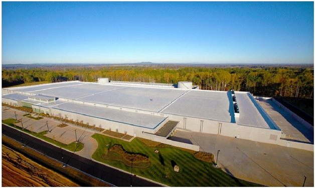 Apple Data Center in Maiden, North Caroline, the USA